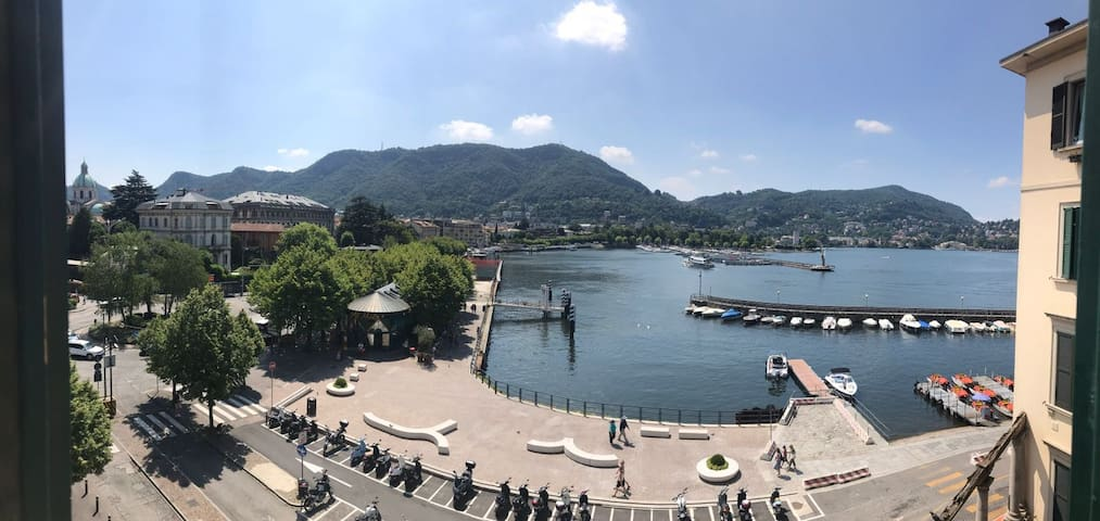 Como centre apartment with wonderful lake view
