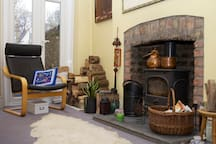 The comfortable guest sitting room