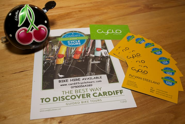 Bike hire and guided tours with Cardiffcycletours