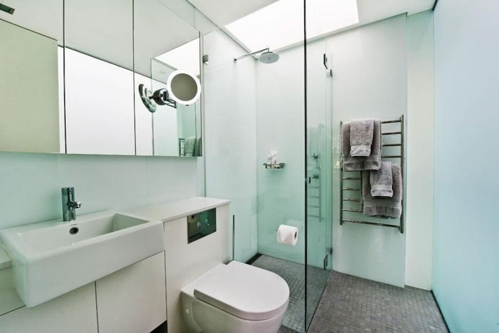 Private ensuites with heated towel racks and tiles