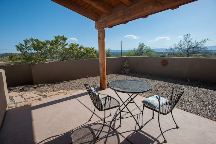 Private courtyard with mountain views to the south and west, ideal for watching our blazing Arizona sunsets.