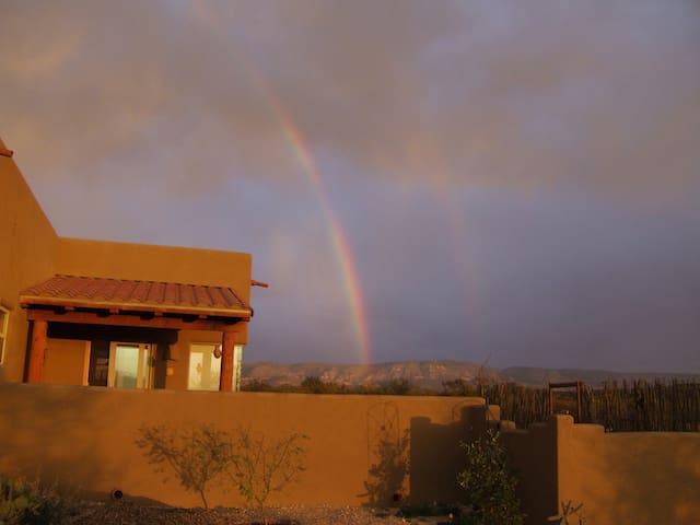 One of our monsoon season rainbows.