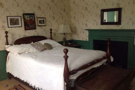 Green bedroom 1800's house near BSU - Bridgewater - Ev