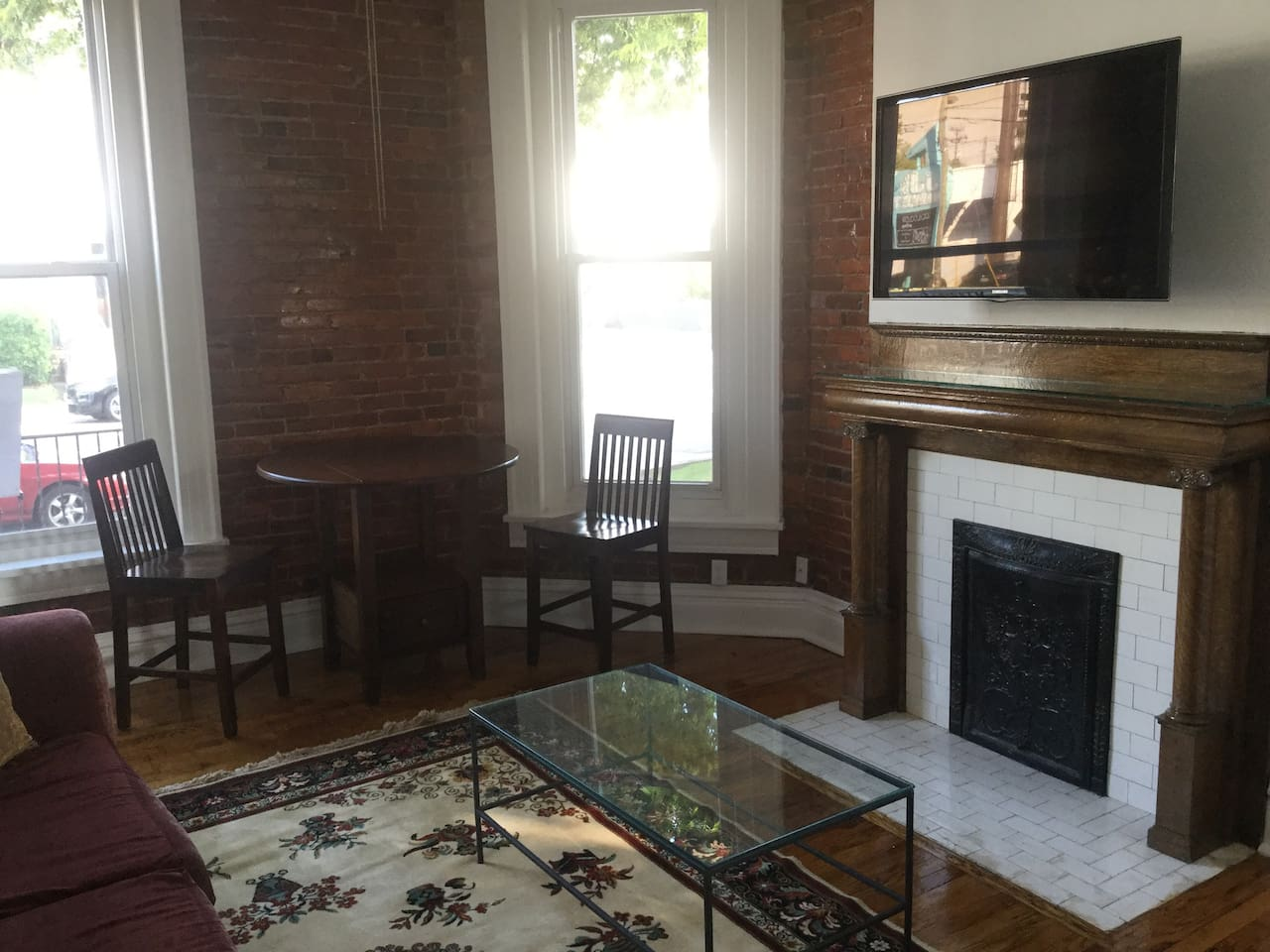 Living room facing Broadway