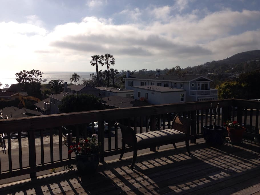 Amazing sunset views over Catalina Island from the front deck
