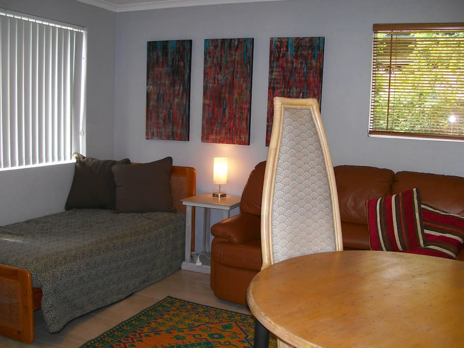 Lounge , TV area with second single bed if required for non couples.