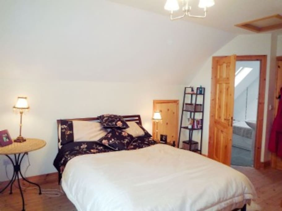 Master bedroom upstairs with en suite