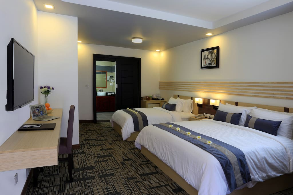 Our Landmark Double Extra bed is can accommodating for a small family.