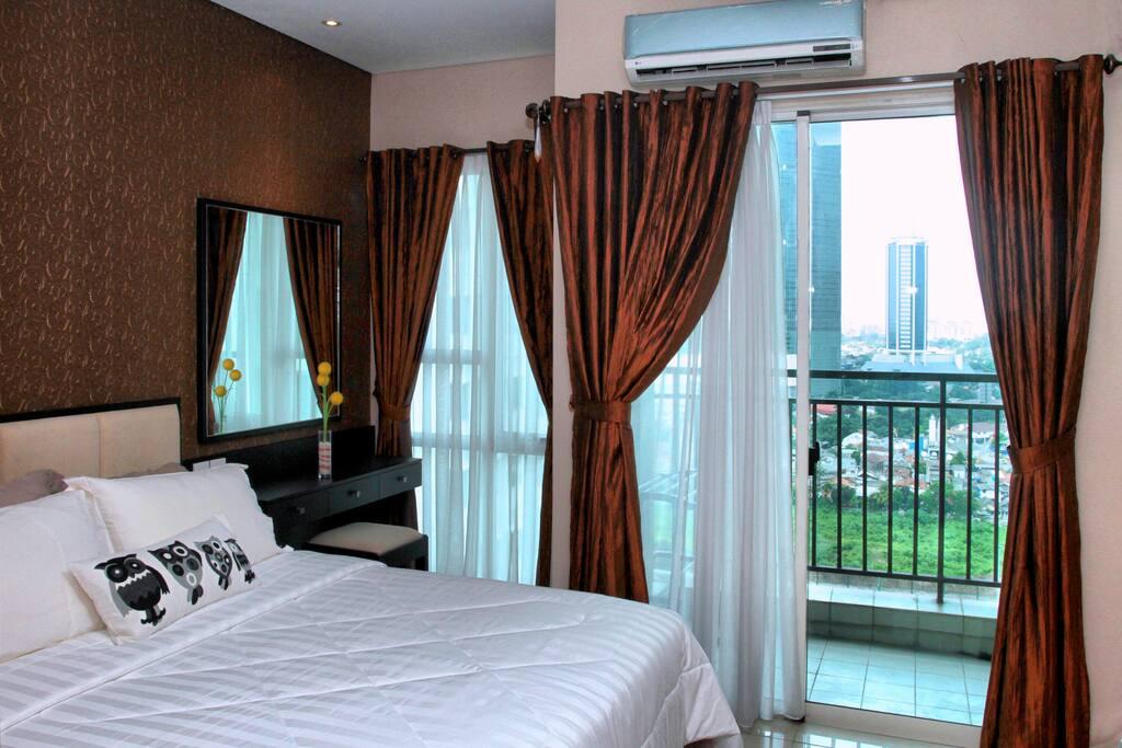 You'll enjoy morning sun light from the bedroom
