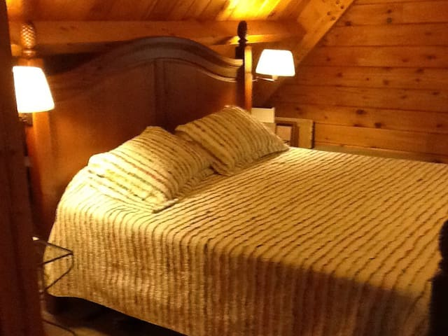 Log home loft suite - Stoughton - House