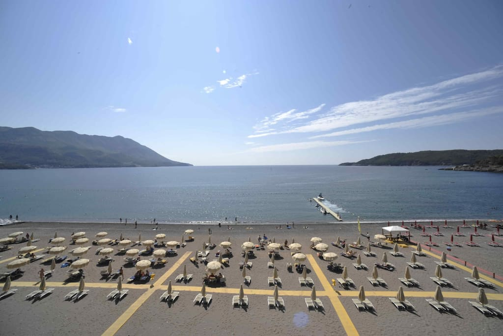 Becici beach, 350 meters from our property