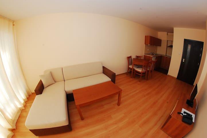Двухкомнатный апартамент с одной спальней