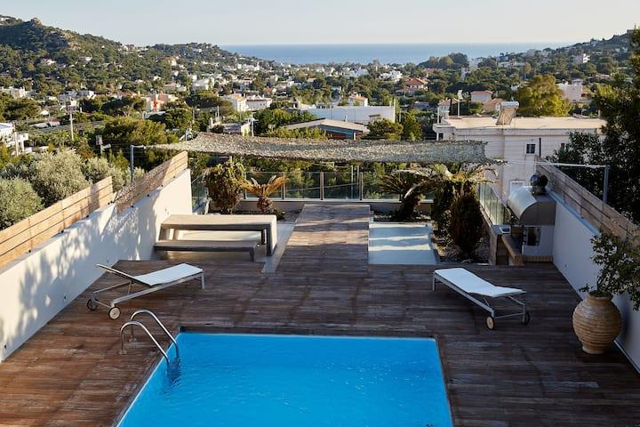 Magnificent, deluxe villa, Lagonisi,Athens Riviera