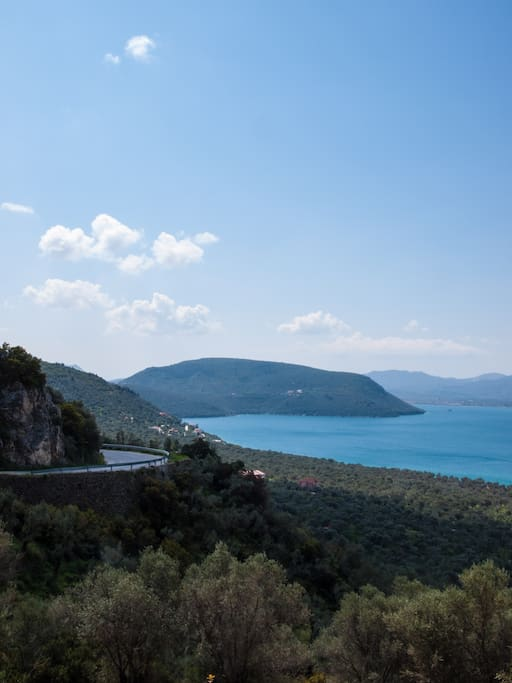 The road to Charamida Bay