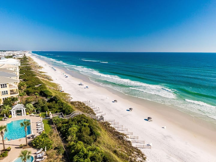 30A-3 Bedroom End Unit Condo 1 STEPS to BEACH