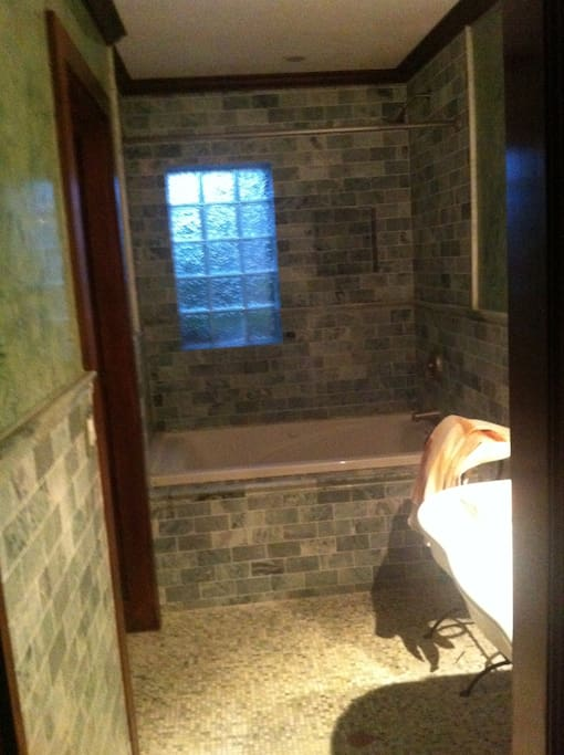 Marble and Venetian plaster with Spa tub and separate WC