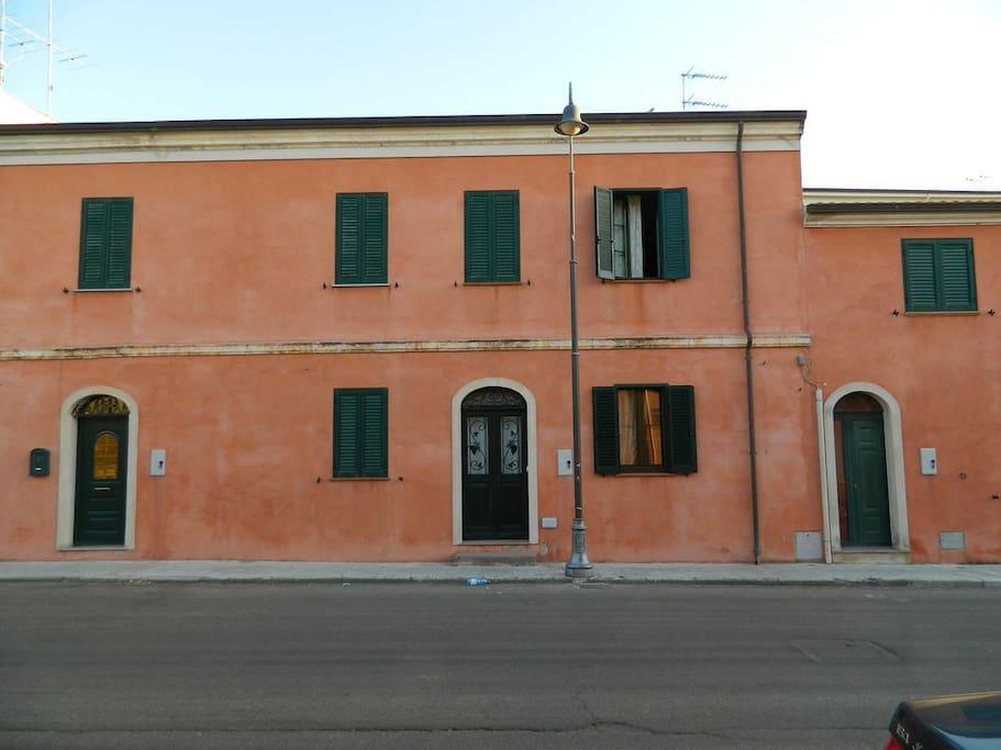 façade de la maison coté rue