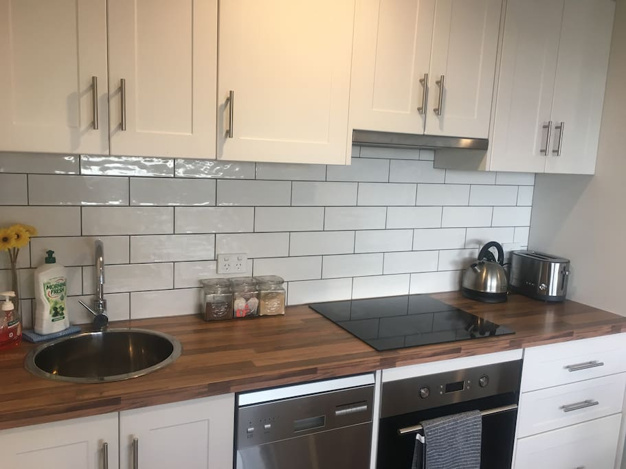 Small but fully equipped kitchen