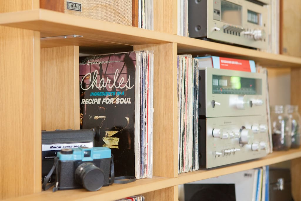 Vintage hi-fi and rocking record collection...