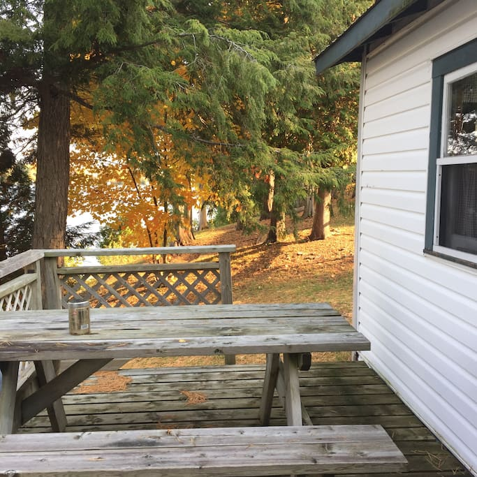 picnic table on your deck