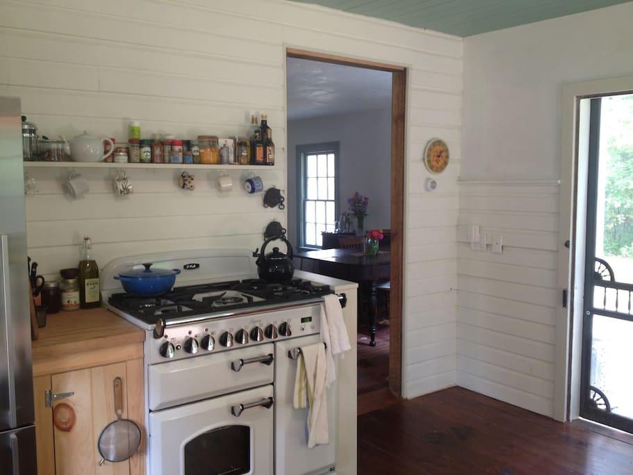 kitchen with 'Aga' stove