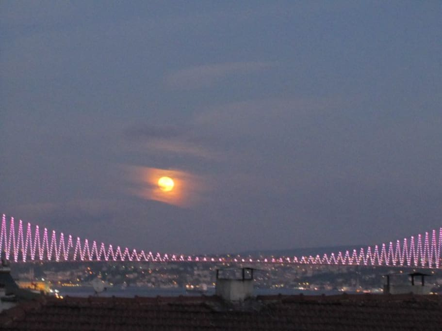 The Bosphorus bridge, included in the view!