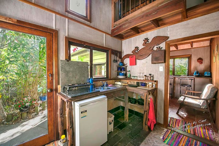 Your kitchen.. with gas cooker and fridge.....