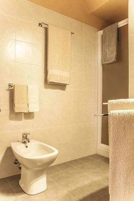 The bath room.