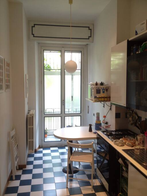 Kitchen with small veranda
