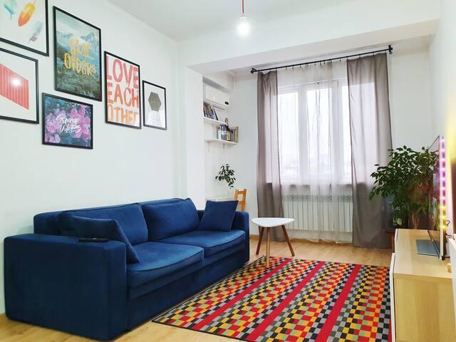 Bright and cozy studio in the city center