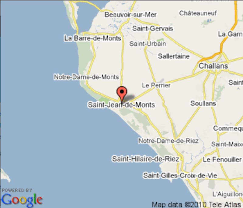 Location Ouest Coast of France South of Nantes in the Vendee Atlantic Ocean