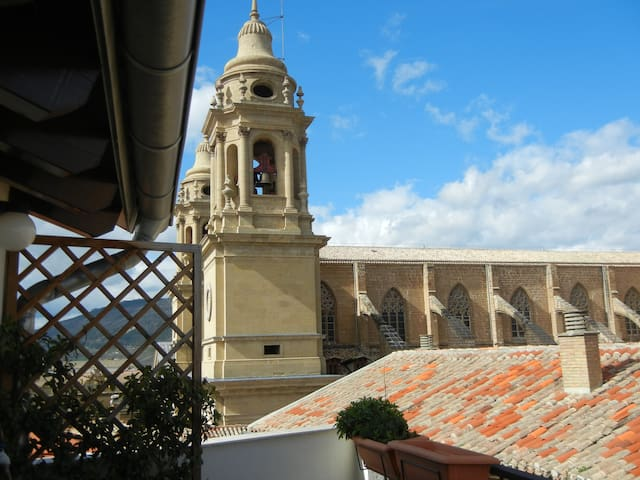 Ático con terraza frente a Catedral