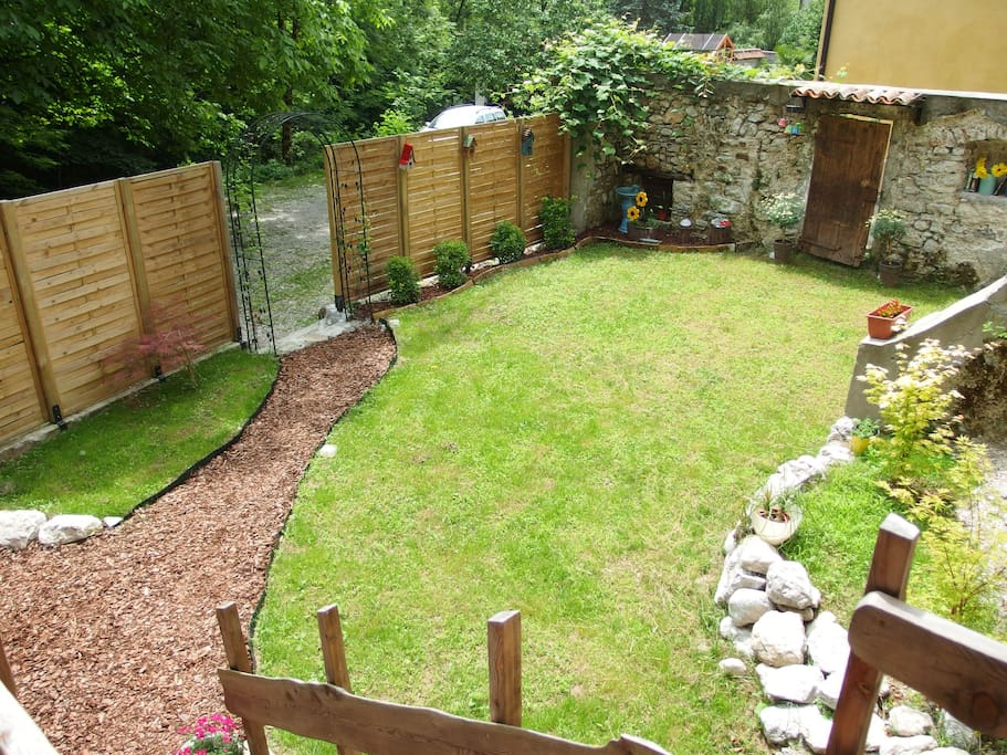 Your own private secret garden (view from your terrace)