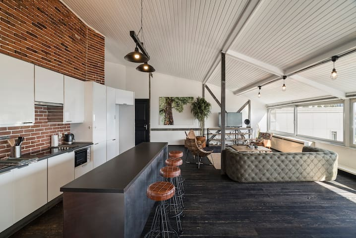 Loft Living Room/Kitchen