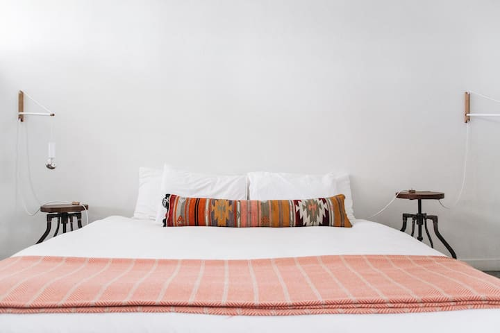 Enjoy a deep night's sleep in your king bed. It's quiet at The Amado