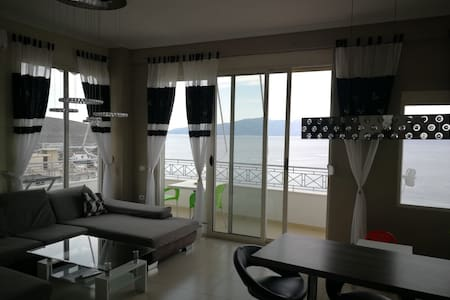 Amazing beachfront and high above the sea, Saranda