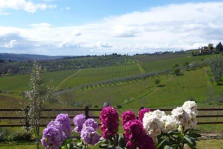 """""""Immersi"""" nella campagna Toscana - Panzano In Chianti - Ház"""