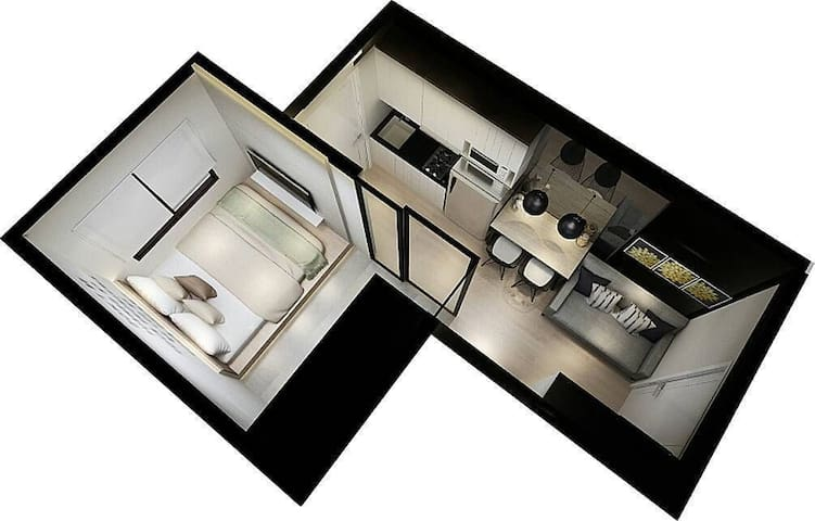 1 Bedroom Madison Park @Central Park, West Jakarta