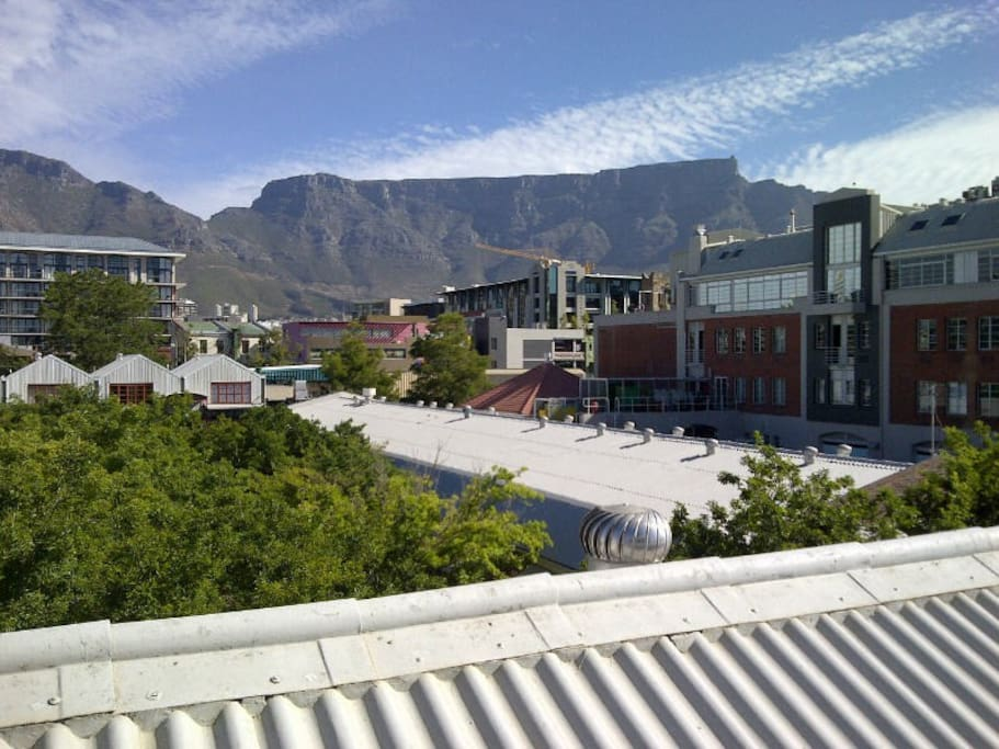 View from balcony towards the City and Table Mountain