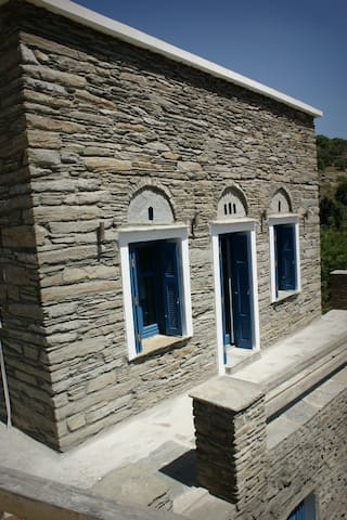 Traditional stone house sea views - Korthio - House