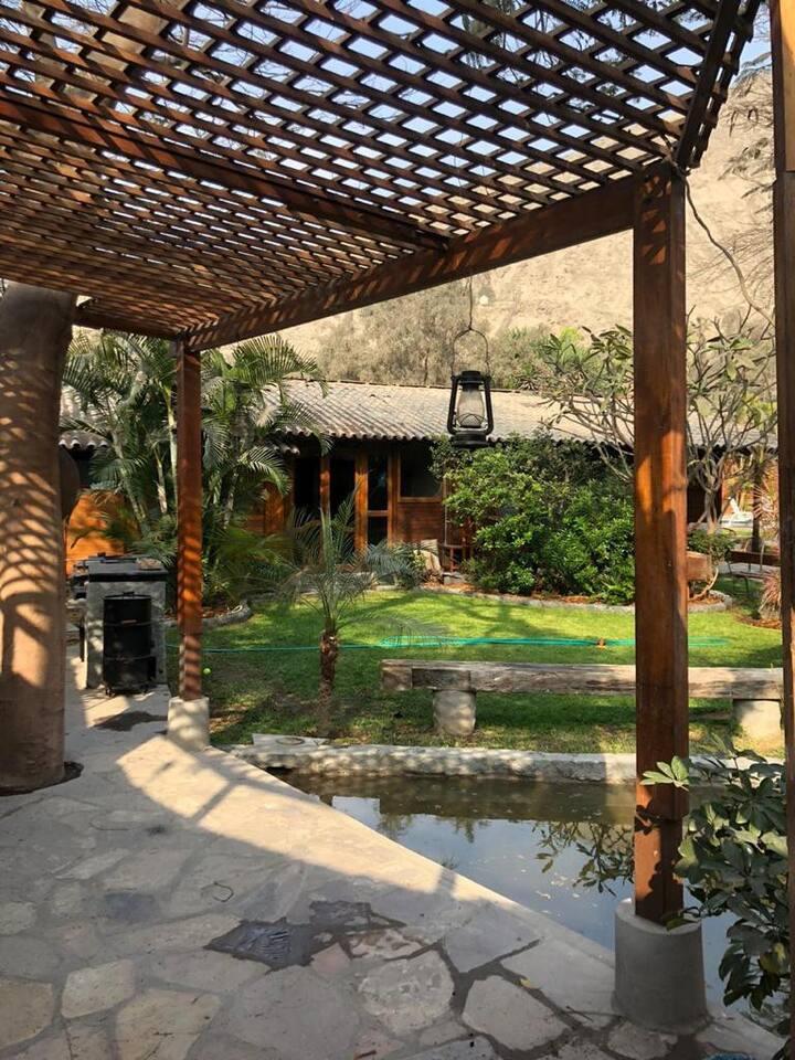 Linda Casa rustica con Piscina en Chaclacayo