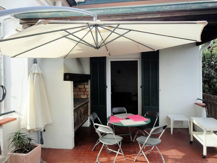 Un parasol pour éviter les coups de soleil !