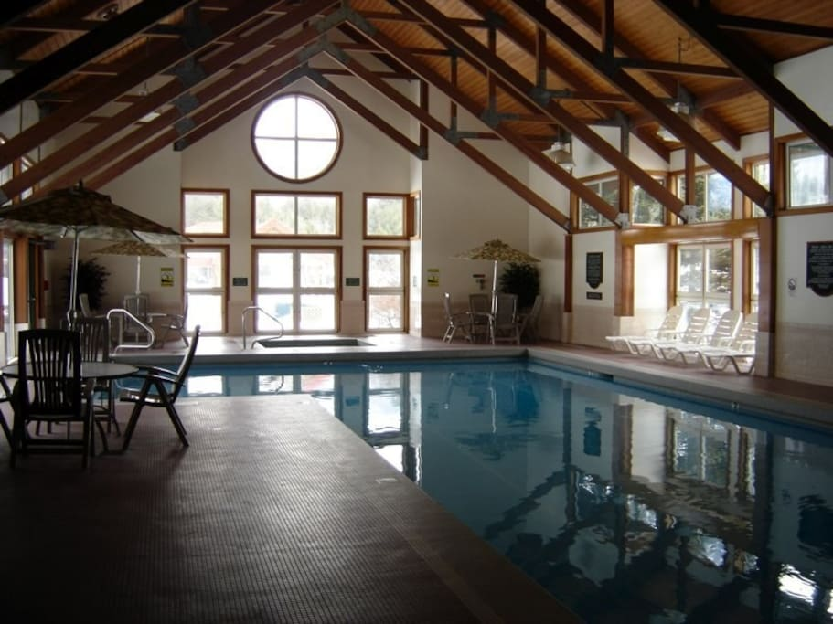 Heated, year-round indoor pool and jacuzzi