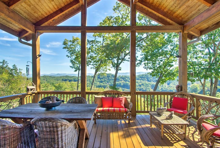 Bryson City Condo w/Deck for Viewing Fall Colors!