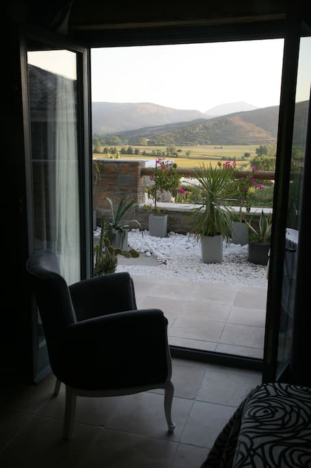 View from a Standard Room with terrace opening