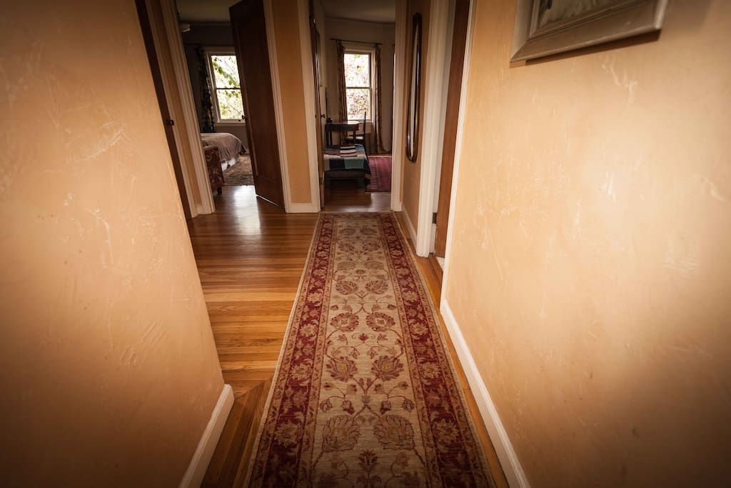 The hall to the back bedrooms.