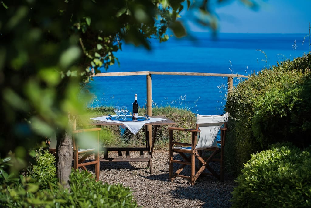 garden with view of the Ionian Sea