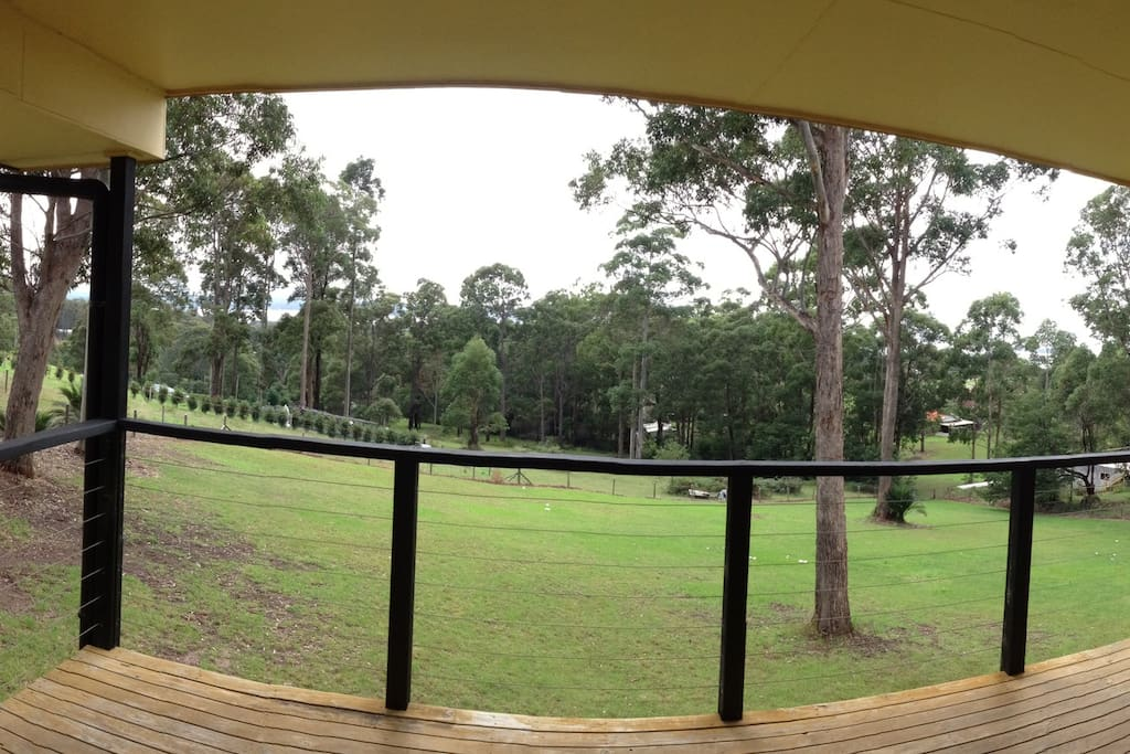 panoramic view from deck