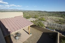 Courtyard view from roof and some of the unobstructed scenery.
