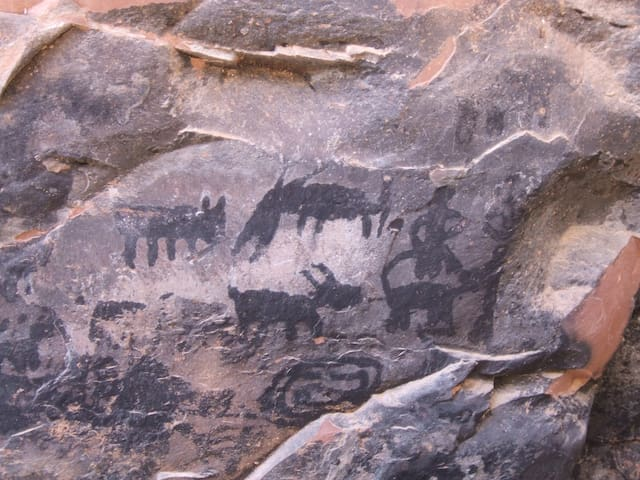 Pictograph at the Palatki Heritage Site.